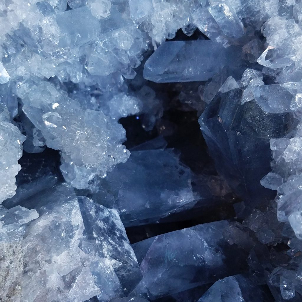 Celestite crystal in Naples FL at Altered Elements Store.