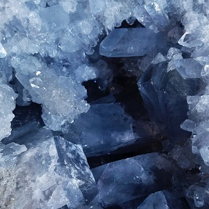 Celestite crystal in Naples FL at Altered Elements Store